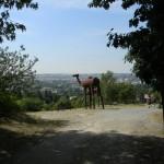 BZ Praha-zelezna socha vyhled