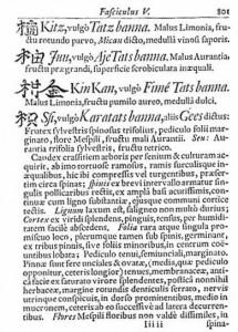 Amoenitatum Exoticarum popis trifoliaty